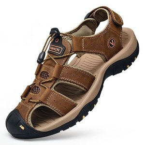 Wholesale Genuine leather sandals for men skidproof outdoor man sport sandals wearproof male casual sandal big size summer shoes zy298