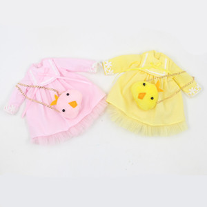 Blyth doll Pink & Yellow dress with Simsimi bag dress up for the 1 6 ICY NEO BJD