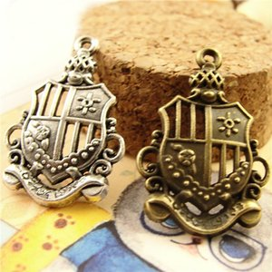 Antique Bronze Retro crown pendant charm, DIY mobile phone bronze accessories wholesale shop, large tibetan silver tone charms