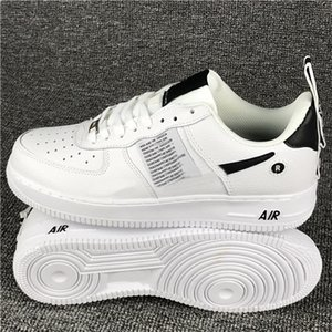 Wholesale 2019 forces Men Women Low Cut one shoes White Black Dunk Skateboarding Shoes Classic AF fly Trainers high knit air designer Sneakers