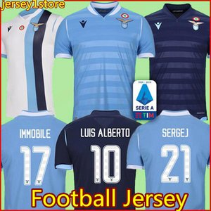 19 20 Lazio Football Jersey LUCAS KISHNA BASTA D JORD JEVIC 10 F.ANDERSON IMMOBILE LULIC 2019 men Custom Soccer Shirt on Sale