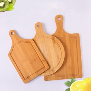 Wholesale Wooden Cutting Boards Sizes Fruit Chopping Blocks Mildew Proof Bread Cake Sushi Wooden Plate Tray Kitchen Tools Pieces DHL