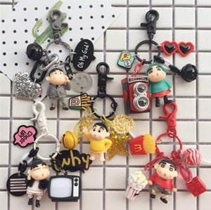 Wholesale Cartoon Anime Keychain Bag Hanging Car Key Pendant Cute Cartoon Doll Anime Creative Couple Key buckle