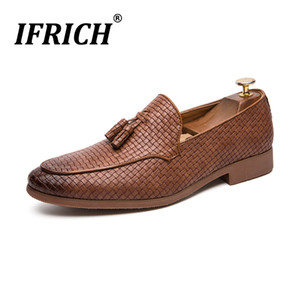 Wholesale Classic Tassel Dress Shoes For Men Groom Wedding Fashion Shoes Slip on Men Party Formal Brown Dress Business Footwear