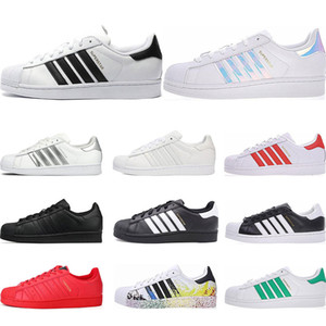 Originals superstars casual shoes Designer for men women black white gold green red super star fashion mens flat sneakers size 36-44