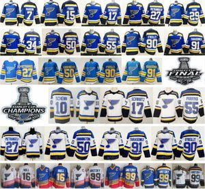 2019 New St. Louis Blues 27 Alex Pietrangelo 10 Schenn Jaden Schwartz Jake Allen 50 Binnington 7 Maroon 91 Vladimir 90 Ryan O'Reilly Jersey on Sale