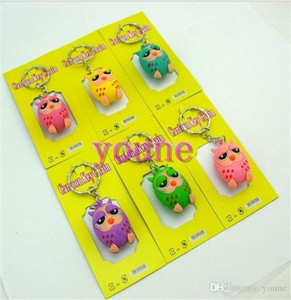 Wholesale Wholeslae Cute Animal Design Owl d Keychain Fashion Key Ring Pendant Figure Model Accessories