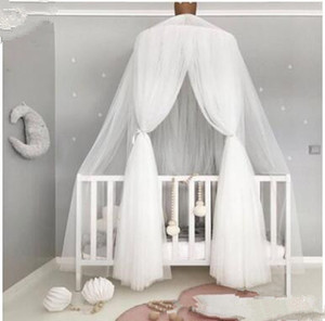 Wholesale Baby Dome Mosquito Netting Kids Solid Bed Curtain Hanging Tent Crib Children Room Decor Breathable Round Hung Dome Mosquito Net Bed LT938