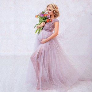 Wholesale Baby Shower for Pregnant Wedding Dresses Lalic Lace Top Cap Sleeve Fancy Tulle Skirt Elegant Bridal Gowns Customize Plus Size