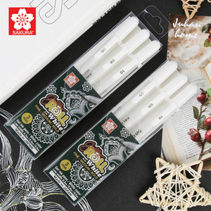 Wholesale Japanese cherry sakura high light painting pen set hand painted animation creative diy white note pen wave white paint w