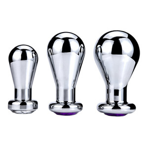 Anal Plug Stainless Steel +Crystal Jewelry Anal Toys Butt Plugs Anal Dildo Adult Products for Women and Men