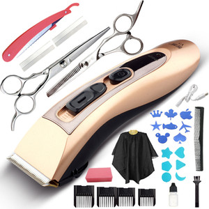 Wholesale 15pcs USB ELECTRIC HAIR CLIPPER TRIMMER CUTTER MACHINE KIT Available for both children and adults Family hairdressing suit