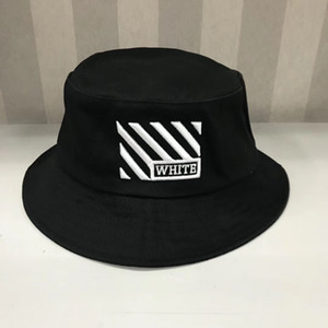 Wholesale High quality white Travel Fisherman Leisure Bucket Hats Solid Color Fashion Men Women Flat Top off Wide Brim Summer Cap Bowler Cap