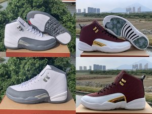 Wholesale games for balls for sale - Group buy with Box Mens and Womens Basketball Shoes Sneakers S XII Dark Grey Game Ball for Men Sports Shoes