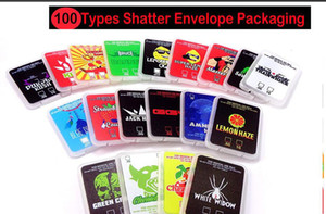 Stock Sale Shatter Case Packaging Assorted Strain Slim Shatter Packs Wax Concentrate Packaging White Widow Amnezia Haze Purple Kush