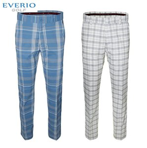 Wholesale Outdoor Golf Pants Men Full Length Spring Summer Ball Sport Golf Plaid Pants breathable Quick Drying Men