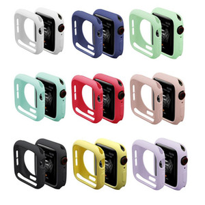 New Resistance Soft Silicone Case for Apple Watch iWatch Series 1 2 3 4 Cover Full Protection Case 42mm 38mm 40mm 44mm Band Accessories on Sale