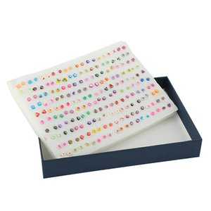 Wholesale Factory Directly Small Mini Clay Slices Earring With Plastic Ear Stick Needle pairs Box Packing Children Jewelry