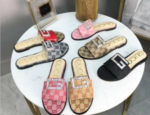 G Letter designer slides Luxury Women Sandals Brand Slippers Flip Flops Rihanna ace womens sandals Non-slip designer Slippers