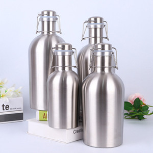 Wholesale used stainless steel resale online - 32oz Stainless Steel Tumbler Large Capacity Beer Growler Custom Colors Can Be Used in Small Bars to Add Flavor Quickily Delivery