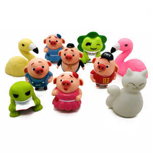 Wholesale Novelty Cartoon Model Action Figures Flamingo Pig Cat Frog Vinyl Cute Home Desktop Decoration Kids Games Toys Party Gift Wholesale