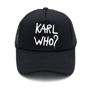Wholesale Fashion Karl Women Summer Baseball Net Cap KARL WHO Simple Print Couple Outdoor Sun Hat Truck Driver Cap