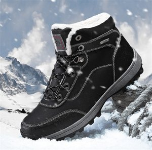 Wholesale Designer for snowing men to design a new winter men s outdoor cotton shoes with plush warm snow boots men anti skid wear resistant Hiking s