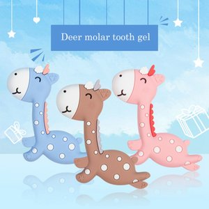 Wholesale Baby Teether Silicone BPA Cartoon Giraffe Shape Free Safe Chew Charms Infant Teething Teeth Gift Toys New Hanging Toys For Baby