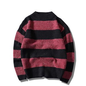 Nice Autumn Winter Striped Sweater Men Clothes Fashion Casual Pullover Knitted Male Sweaters O Neck Brand Clothing M01 on Sale