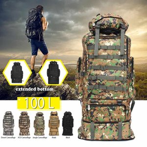 100L Large capacity outdoor backpack work travel camouflage luggage backpack men and women tent camping bag Climbing Hiking Bags on Sale