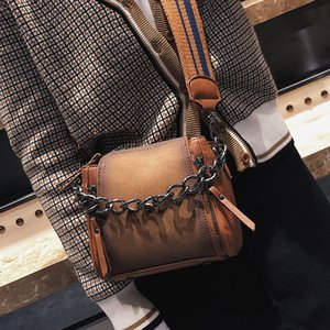 Wholesale Luxury Retro Matte Women Handbag Wide Shoulder Strap Female Shoulder Messenger Bag Bucket Handbags Bag Chain Crossbody Bags