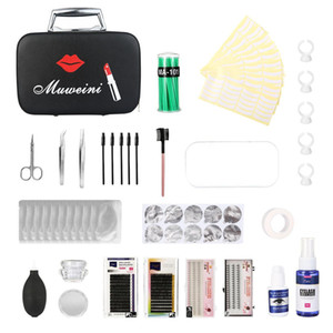 Wholesale lash extensions kits for sale - Group buy 22pcs Eyelashes Grafting Set False Lashes Extension Grafted Practice Kit with Makeup Case for Starter