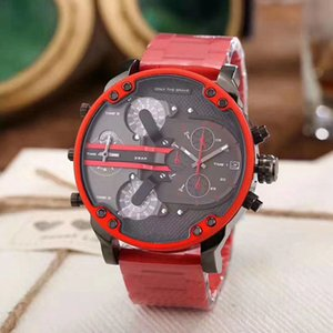 Wholesale Sports DZ colors Mens Watches Double pointer Big Dial Display mm Luxury watch Quartz Watch Steel Band Wristwatches