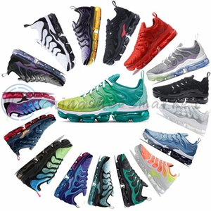 Wholesale 2020 Lemon Lime Green Tn Plus Running Shoes For Men Woman Bumblebee Midnight Navy Active Fuchsia bleached aqua Sports Sneakers fashion luxe