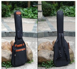 41 Inch Classic Soft Acoustic Guitar Bass Case Bag Holder Cotton Padded Gig Bag Case Guitar Backpack Black Customized Logo Based On 50 PCS