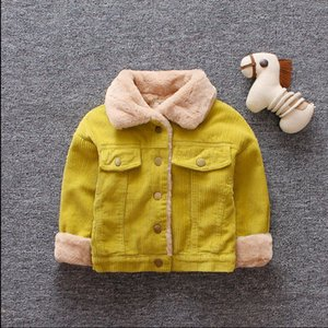 Wholesale Autumn and winter new plus velvet thickening children's jacket cotton coat