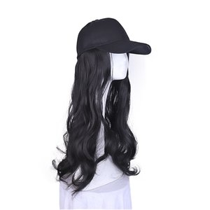 Women Hat Curved Visor Light Board Solid Color Baseball Cap wig Hat Adjustable Sports caps