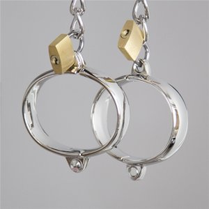 Wholesale Erotic Handcuffs Stainless Steel Hand Cuffs for Sex Lockable Ankle Cuffs Bondage Adult Restraints Games Sex Toys for Couples
