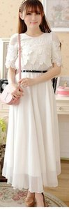 Wholesale new summer Korean fashion temperament elegant shitsuke Bud silk chiffon dress