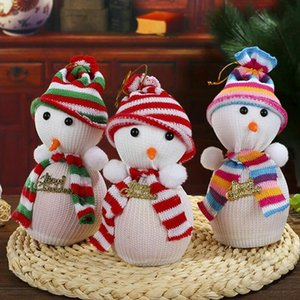 Wholesale Cute Snow Man Cover Apple Small Bags Christmas Dinner Table Party Decoration Supplies Xmas Gifts For Home Family Friend LX7067