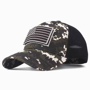 Wholesale High Quality USA Flag Camouflage Baseball Cap For Men Snapback Hat Army American Flag Baseball Cap Bone Trucker Gorras