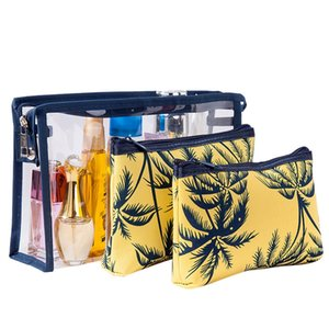 Coconut Tree Cosmetic Bags for Women Travel Waterproof Makeup Bag Set Organizer Large Washing Toiletry Kits Pouch for Girls Gift