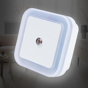 Light Sensor Control Night Light Mini EU US Plug Novelty Square Bedroom lamp For Baby Gift Romantic Colorful Lights wholesale