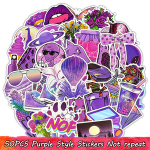 Wholesale girls rooms decor resale online - 50PCS VSCO Purple Waterproof Vinyl Stickers Pack for Girls Teens to DIY Laptop Water Bottle Scrapbook Suitcase Room Decor Party Favors