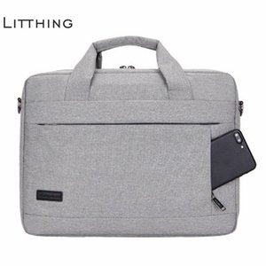 Litthing Large Capacity Laptop Handbag For Men Women Travel Briefcase Bussiness Notebook Bag For 14 15 Inch Macbook Pro Pc J190721