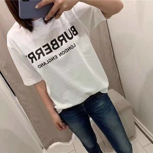 Europe and the United States new T-shirt couples of men and women classic monogram printing simple cotton short sleeves summer loose tide