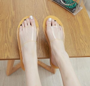 Alluring2019 Transparent Other Clothes All-match Soft Sandy Beach Flat Bottom Cool Slipper 1951