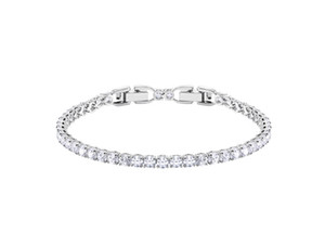 Wholesale sterling silver tennis for sale - Group buy Hot sale Dazzling Slider Tennis Bracelet Sterling Silver Cubic Zirconia Crystal Bracelet for Women Luxury Jewelry