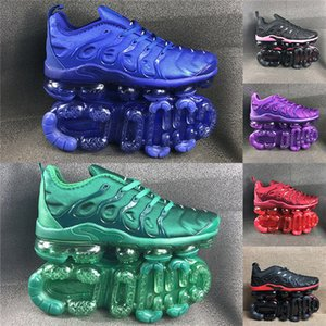 Wholesale 2019 TN New Color Red Blue Green Top Quality Men Women Running Shoes Sports Designer Shoes Spirit Teal Active Rainbow Sneakers Size