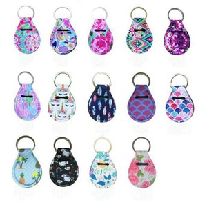 Wholesale Lily Coin Bags Neoprene Coin Wallet Key Rings Key Chains Cover Holder Mini Purse Fashion Sleeve Charms Designs DW4467